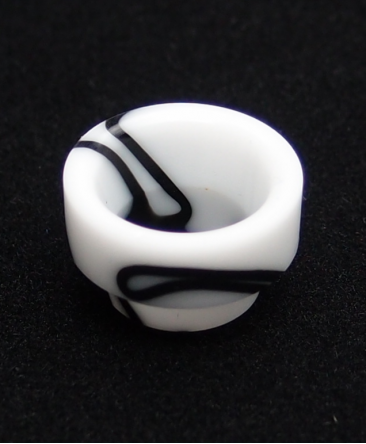OneThird White/Black Drip Tip - 810 Drip Tips - Rehlein Vapes